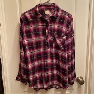 🔵ID 23 Purple Flannel